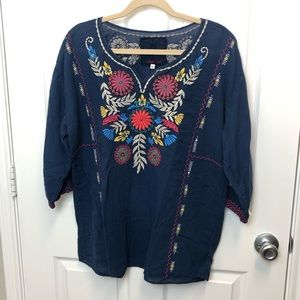 Johnny Was Embroidered Blouse